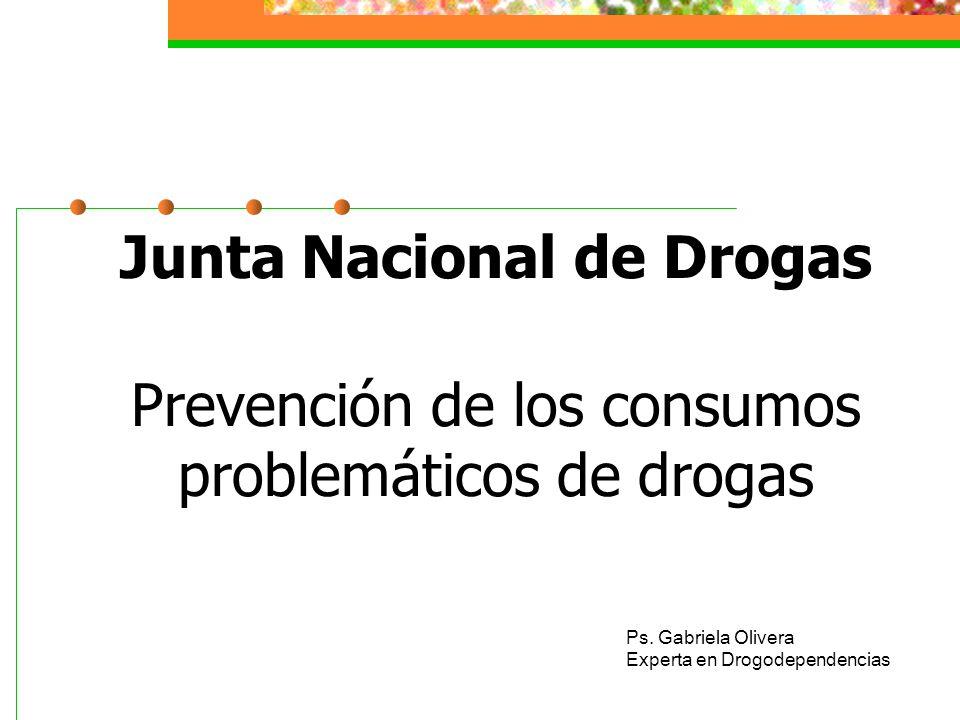 Junta Nacional de Drogas Prevención de los consumos problemáticos de drogas