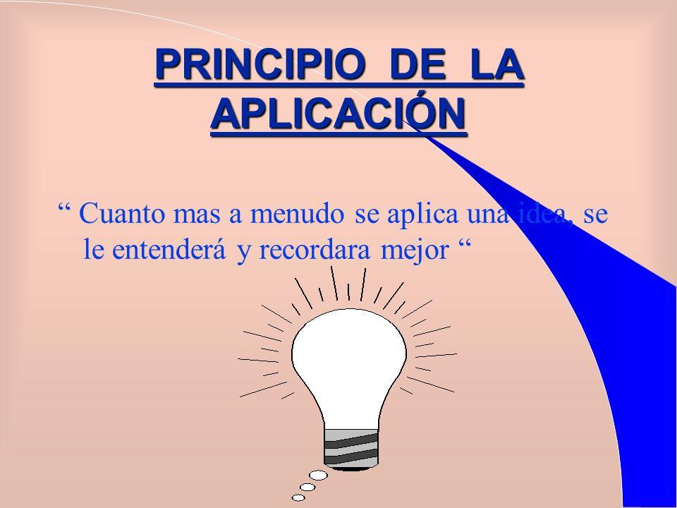 PRINCIPIO DE LA APLICACIÓN