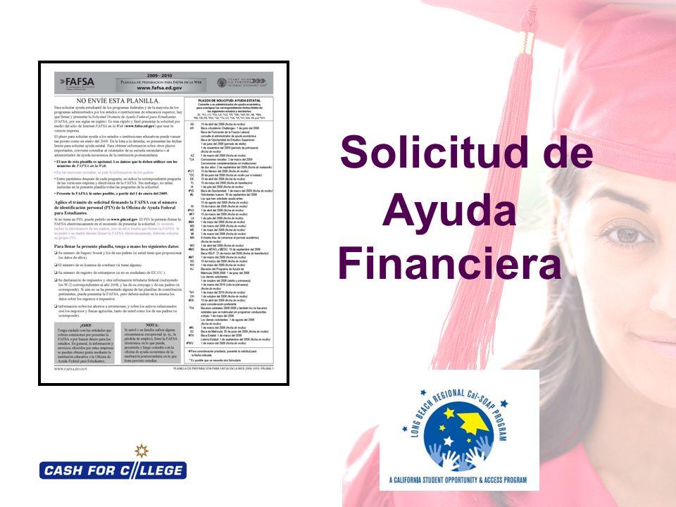 Solicitud de Ayuda Financiera