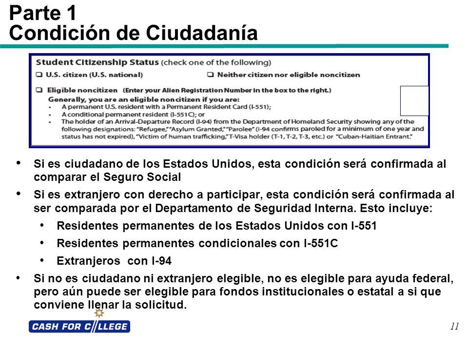 Condición de Ciudadanía