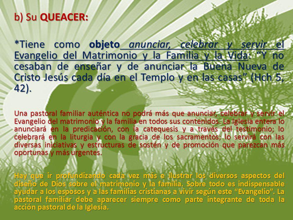 b) Su QUEACER: