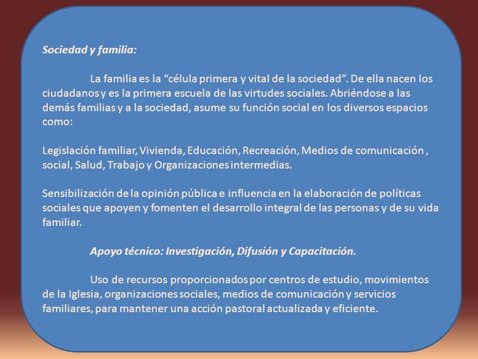 Sociedad y familia: