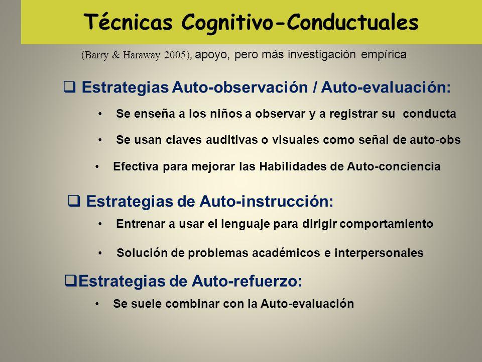 Técnicas Cognitivo-Conductuales