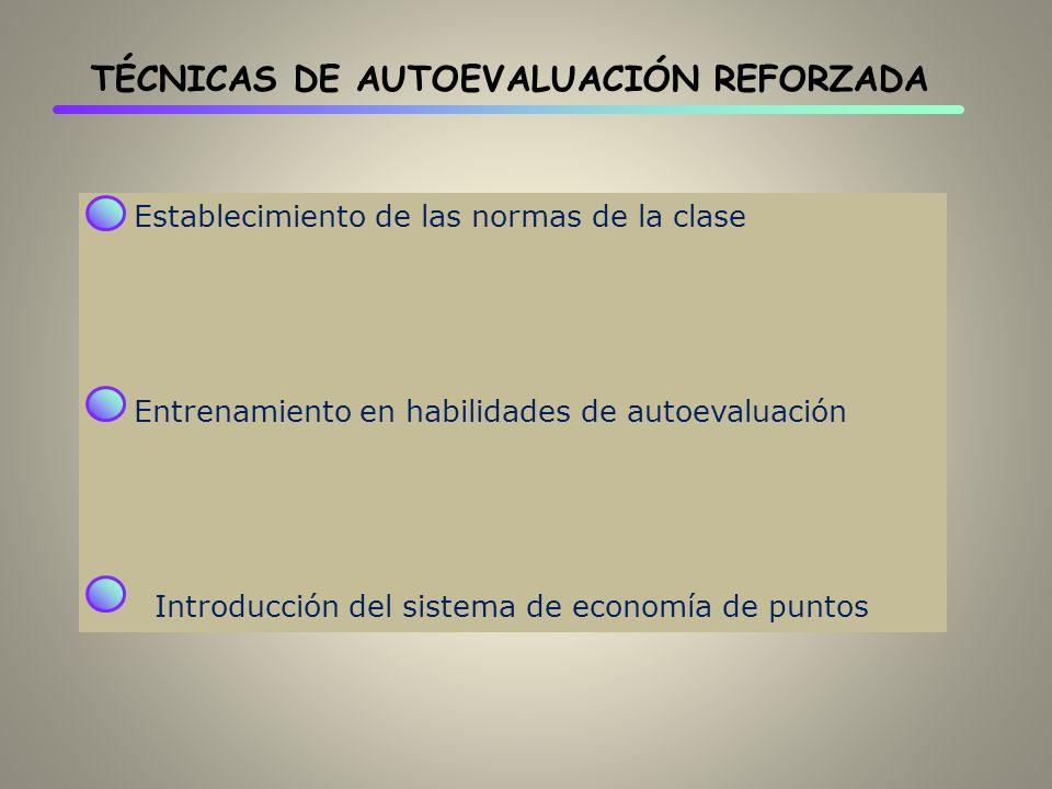 TÉCNICAS DE AUTOEVALUACIÓN REFORZADA