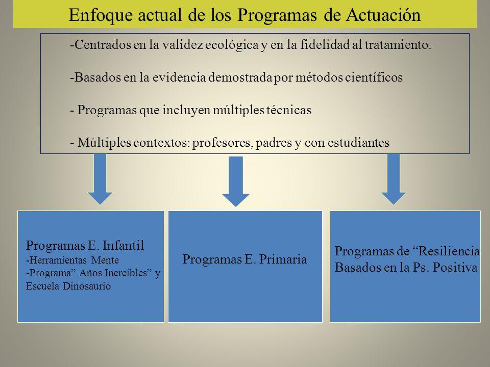 Enfoque actual de los Programas de Actuación