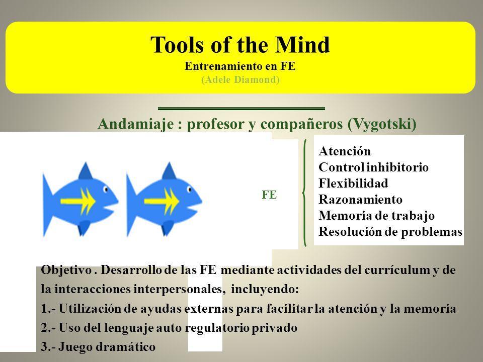 Tools of the Mind Andamiaje : profesor y compañeros (Vygotski)
