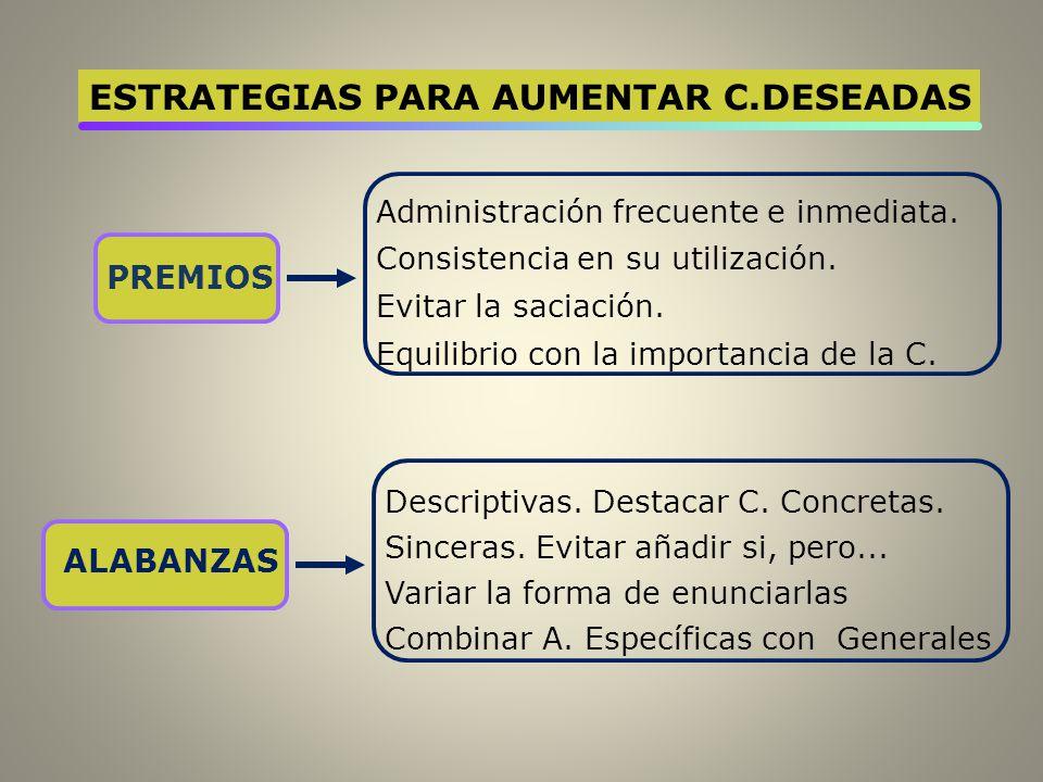 ESTRATEGIAS PARA AUMENTAR C.DESEADAS