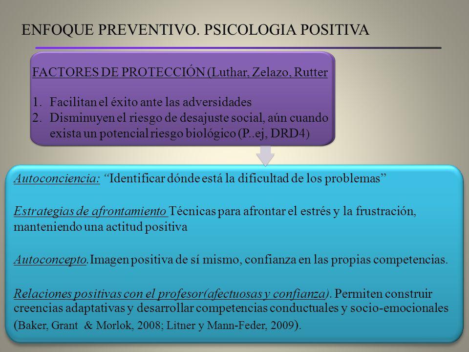 ENFOQUE PREVENTIVO. PSICOLOGIA POSITIVA