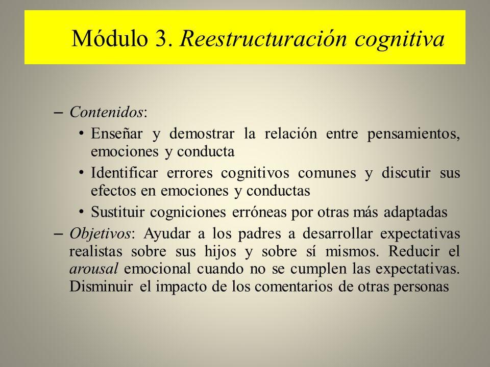 Módulo 3. Reestructuración cognitiva