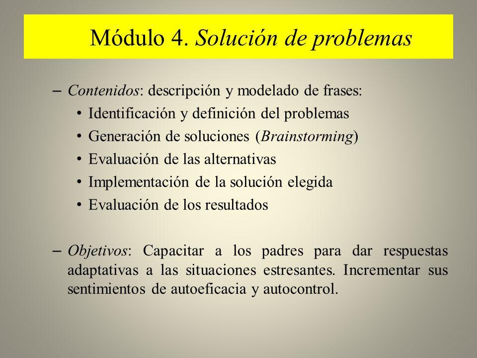 Módulo 4. Solución de problemas
