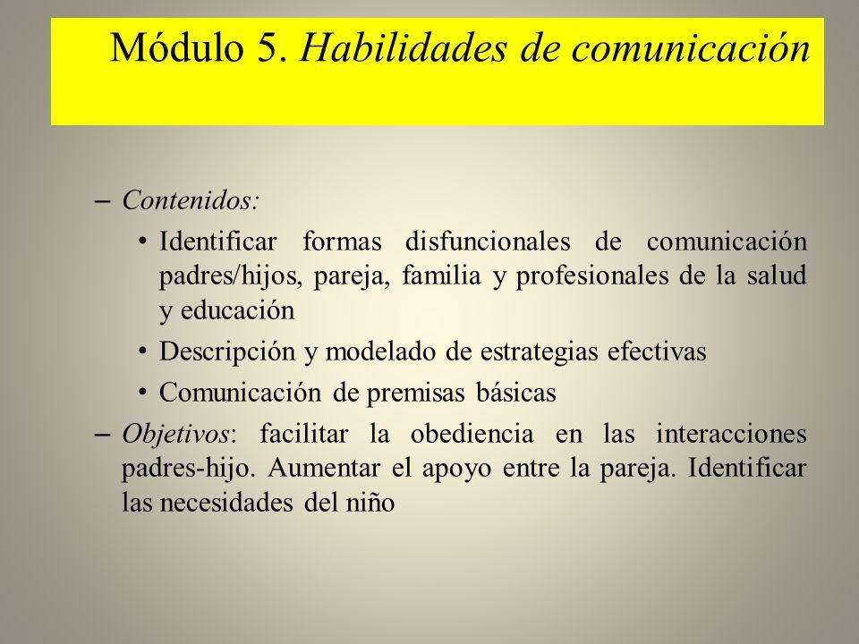 Módulo 5. Habilidades de comunicación