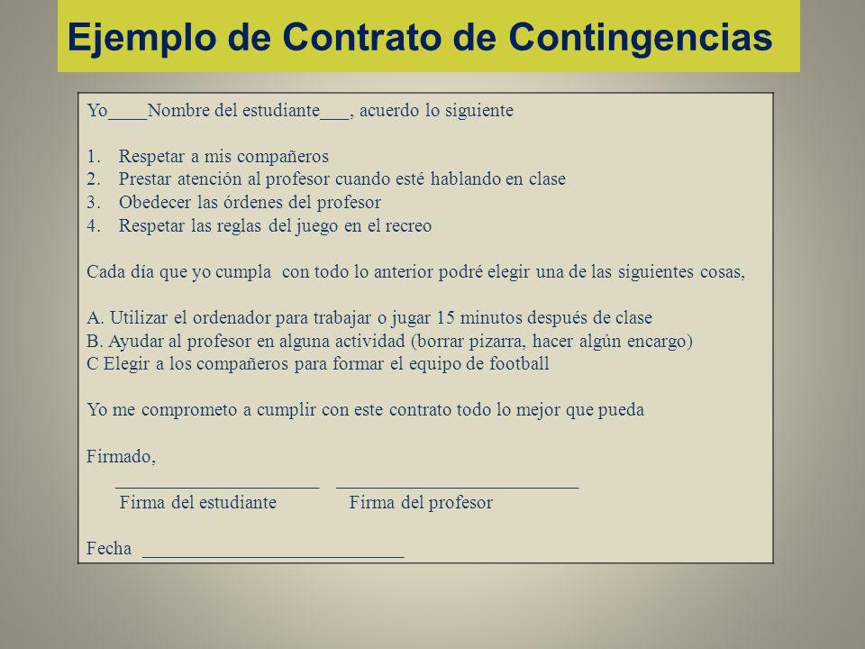 Ejemplo de Contrato de Contingencias
