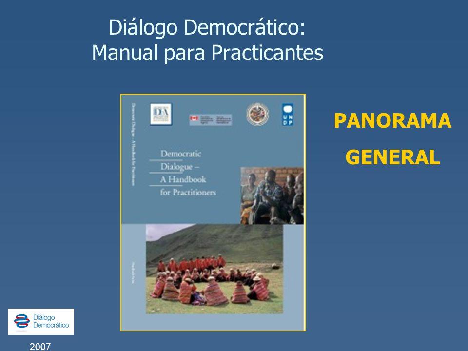 Diálogo Democrático: Manual para Practicantes