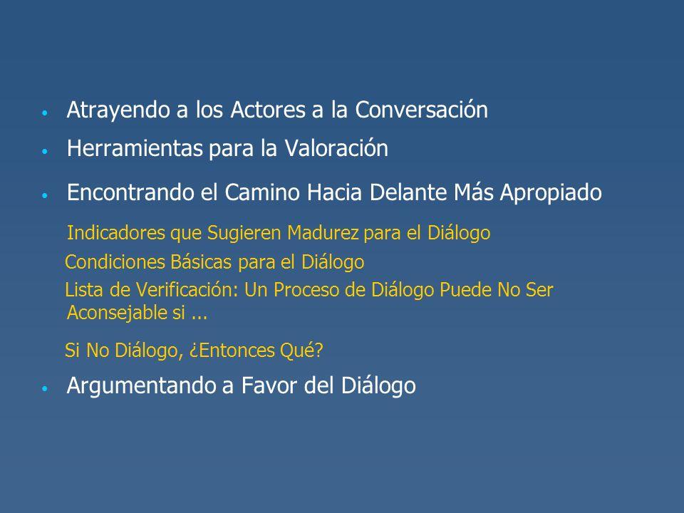 Indicadores que Sugieren Madurez para el Diálogo