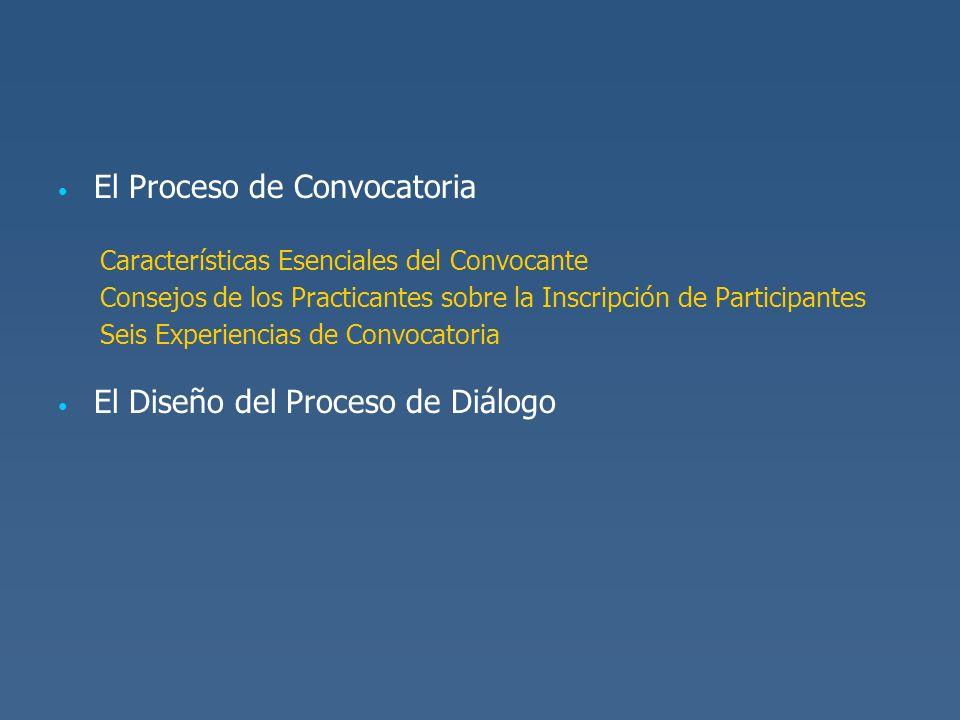 El Proceso de Convocatoria