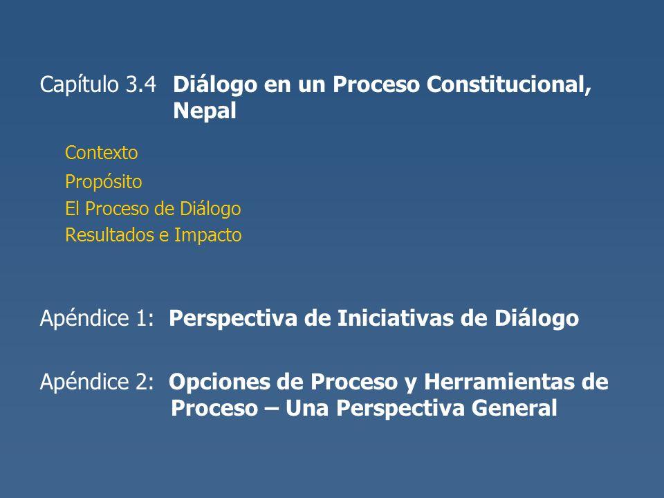 Contexto Capítulo 3.4 Diálogo en un Proceso Constitucional, Nepal