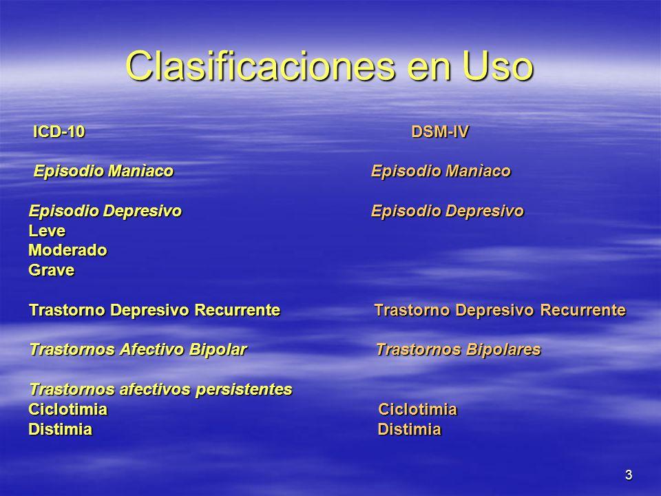 Clasificaciones en Uso