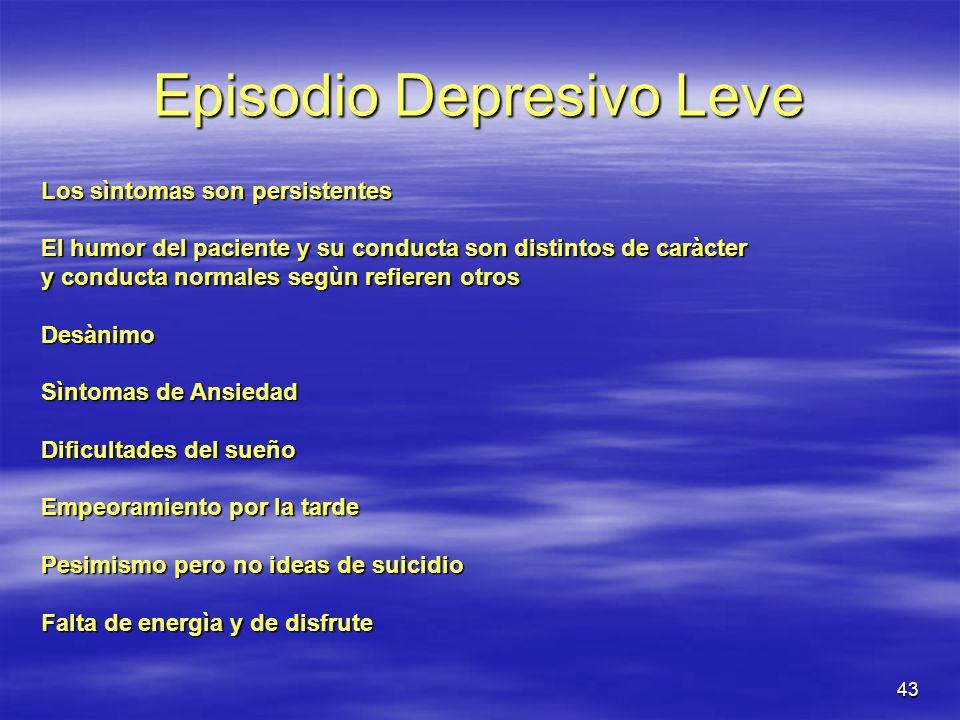 Episodio Depresivo Leve