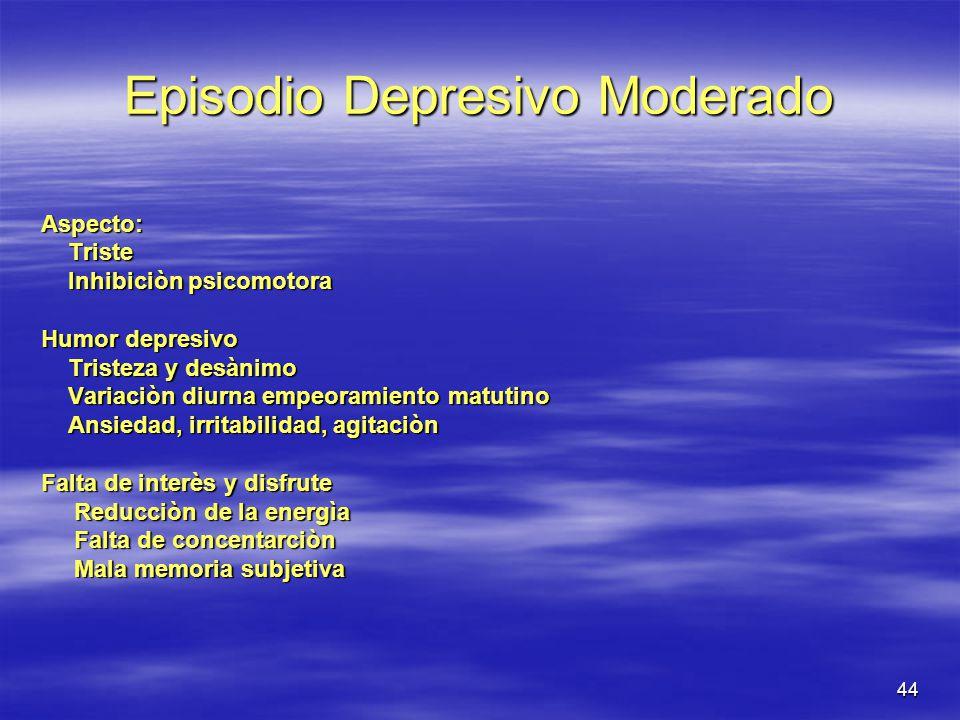 Episodio Depresivo Moderado