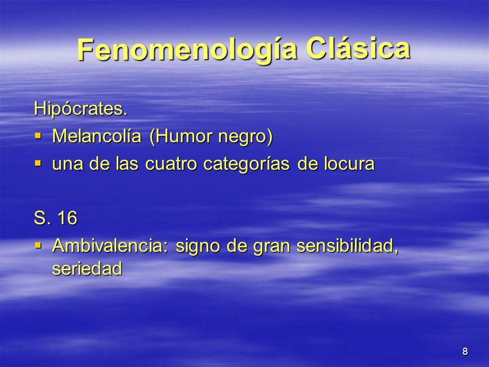 Fenomenología Clásica