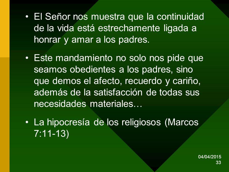 La hipocresía de los religiosos (Marcos 7:11-13)