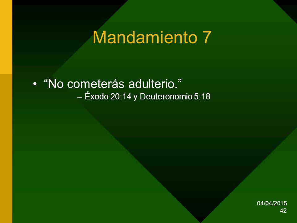 Mandamiento 7 No cometerás adulterio.