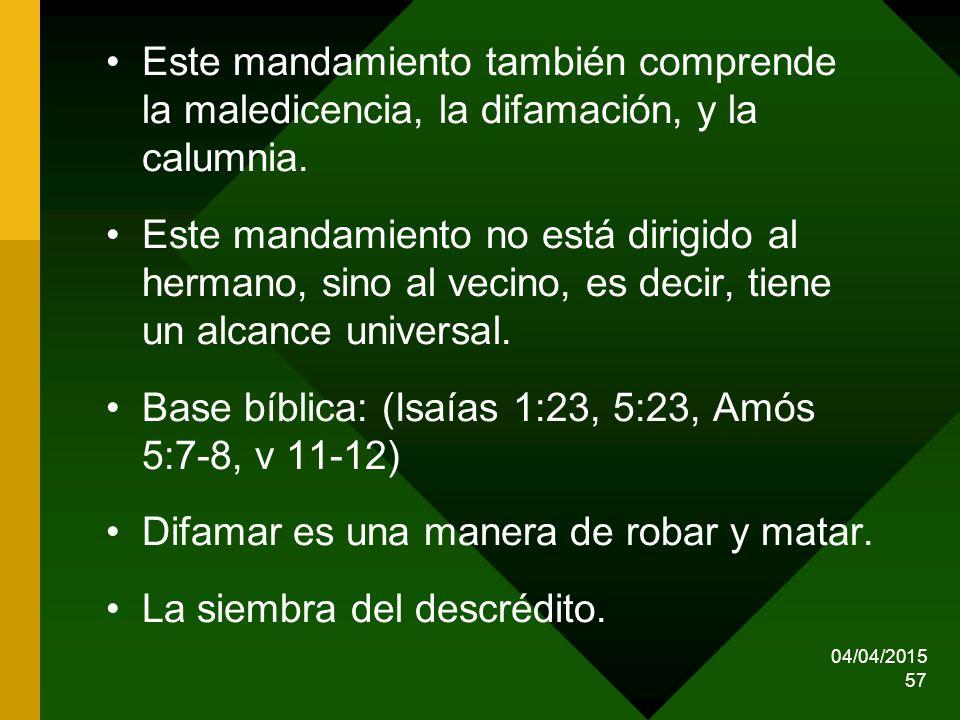 Base bíblica: (Isaías 1:23, 5:23, Amós 5:7-8, v 11-12)