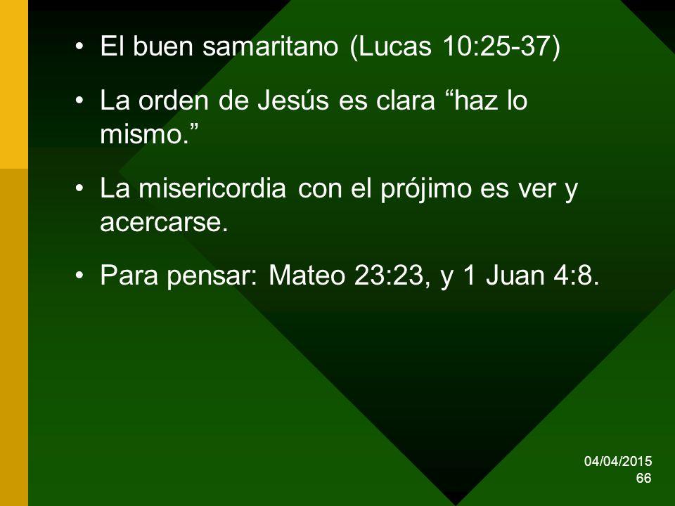 El buen samaritano (Lucas 10:25-37)