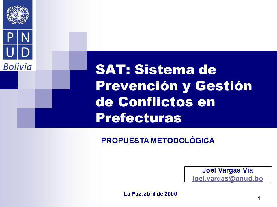 SAT: Sistema de Prevención y Gestión de Conflictos en Prefecturas
