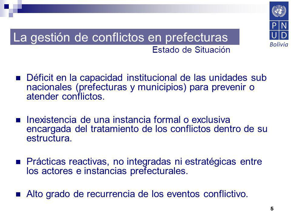 La gestión de conflictos en prefecturas