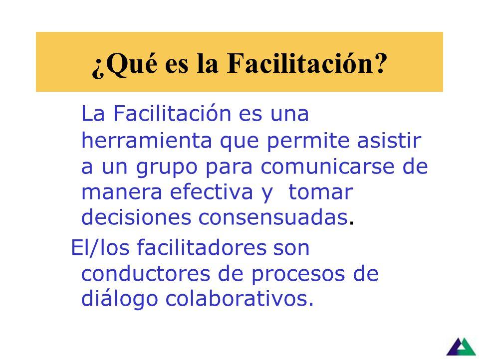 ¿Qué es la Facilitación