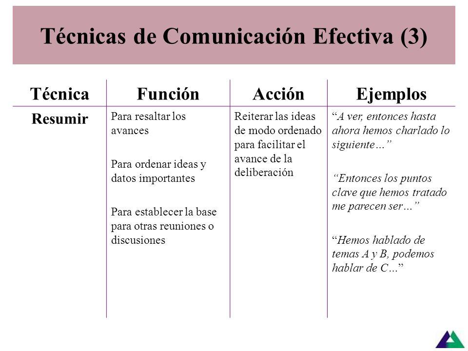 Técnicas de Comunicación Efectiva (3)