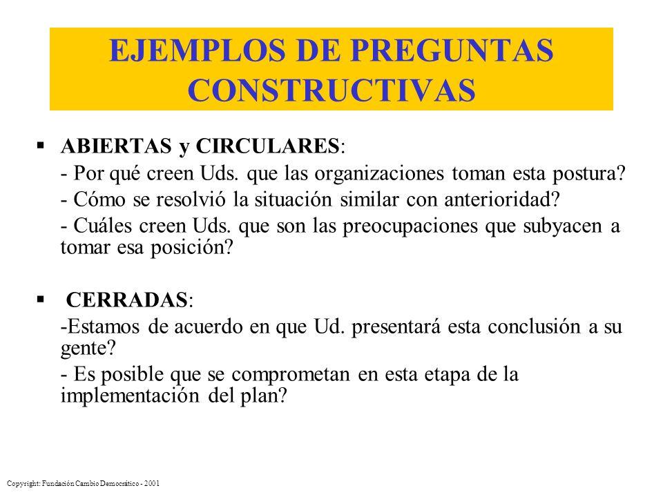 EJEMPLOS DE PREGUNTAS CONSTRUCTIVAS