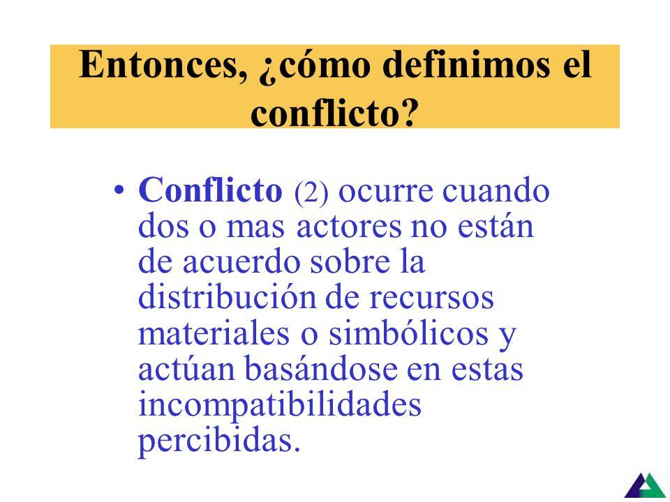 Entonces, ¿cómo definimos el conflicto