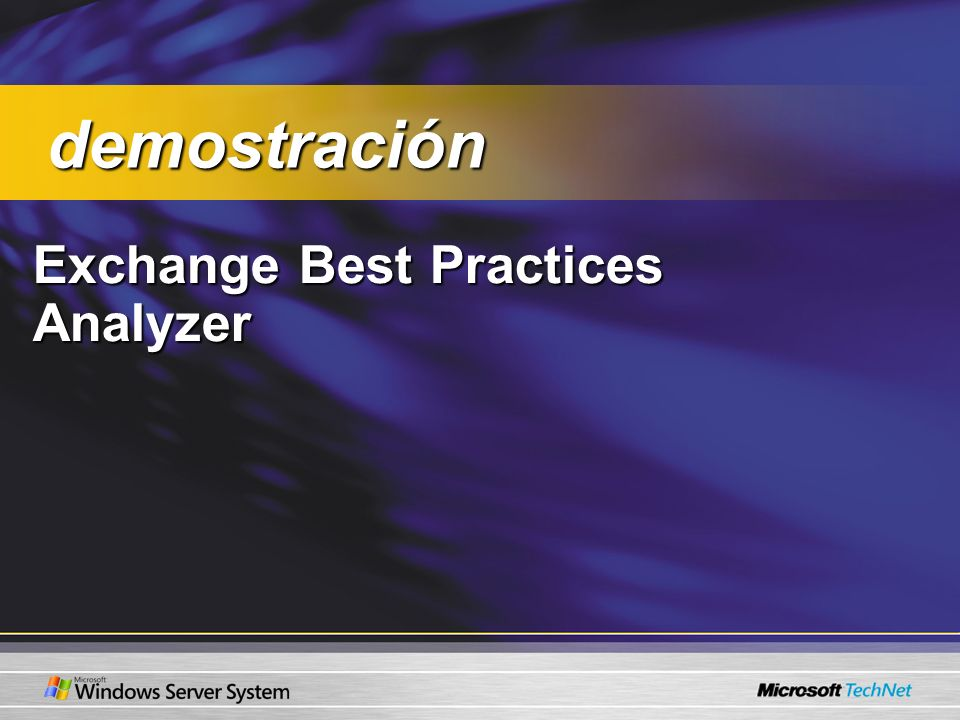 demostración Exchange Best Practices Analyzer
