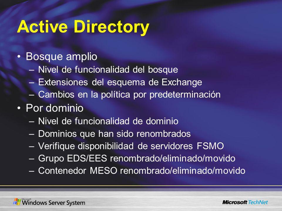 Active Directory Bosque amplio Por dominio