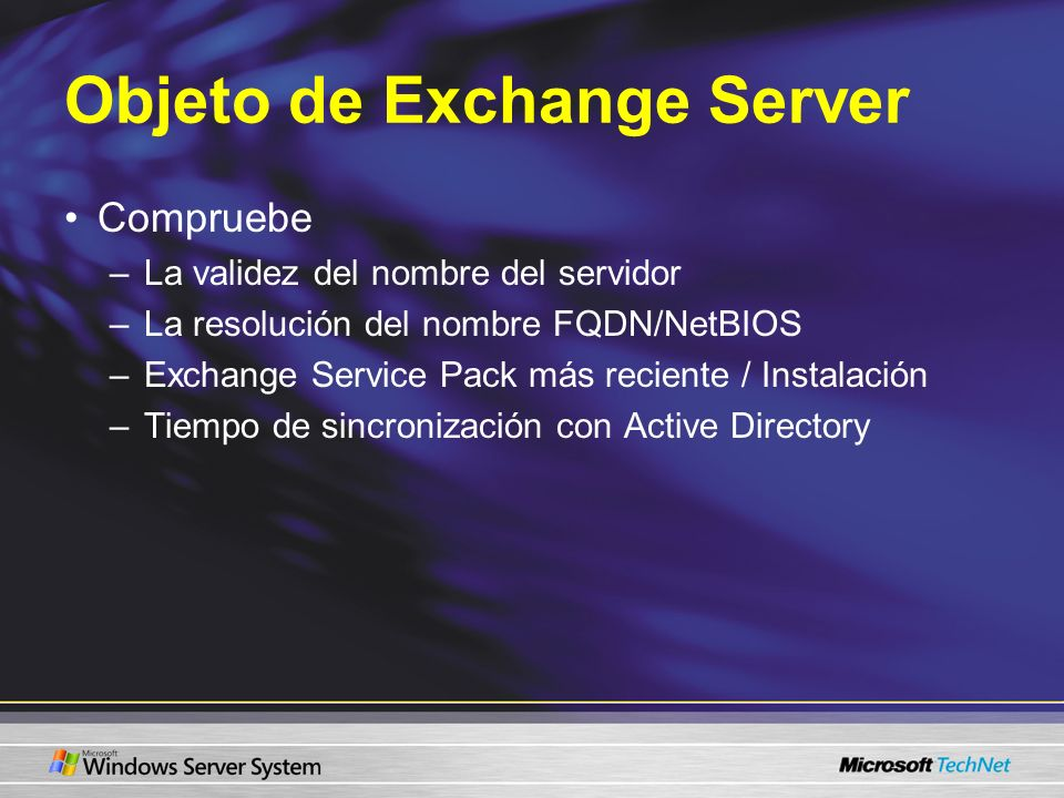 Objeto de Exchange Server