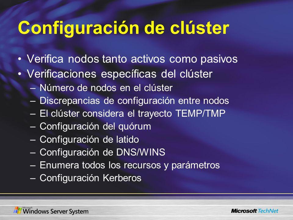 Configuración de clúster