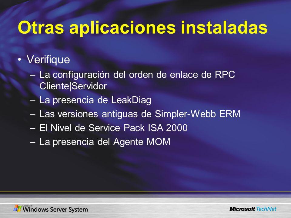 Otras aplicaciones instaladas