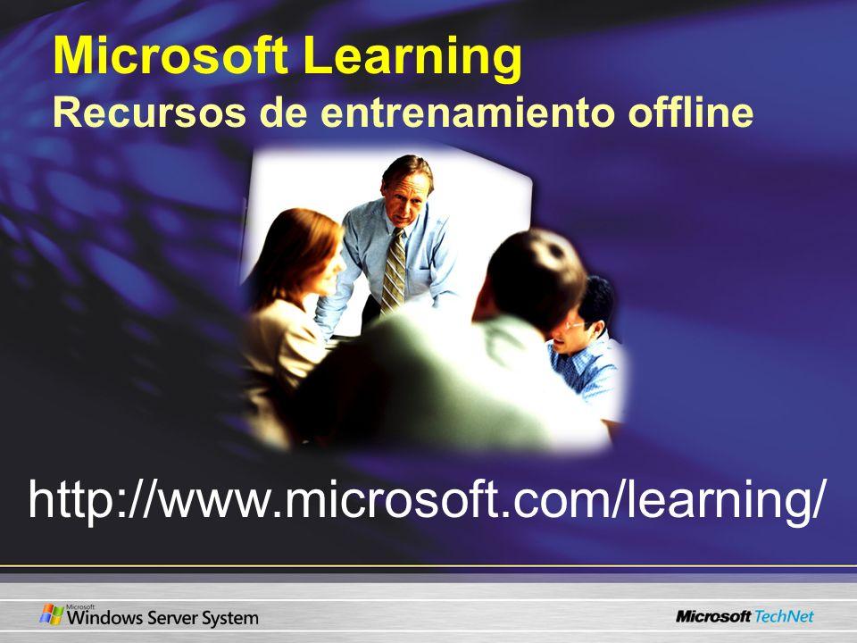 Microsoft Learning Recursos de entrenamiento offline
