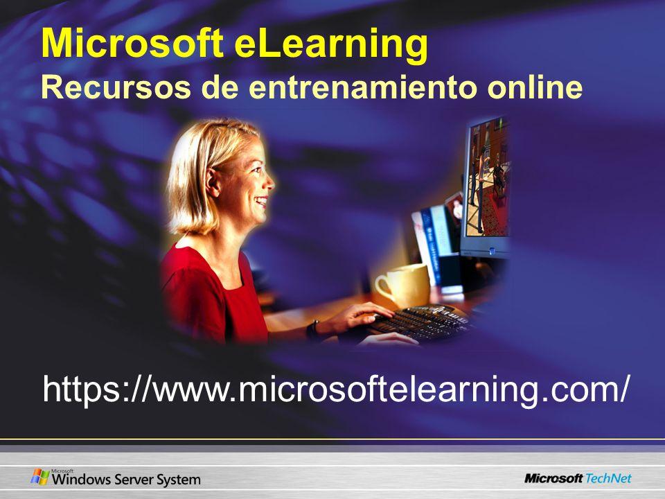 Microsoft eLearning Recursos de entrenamiento online
