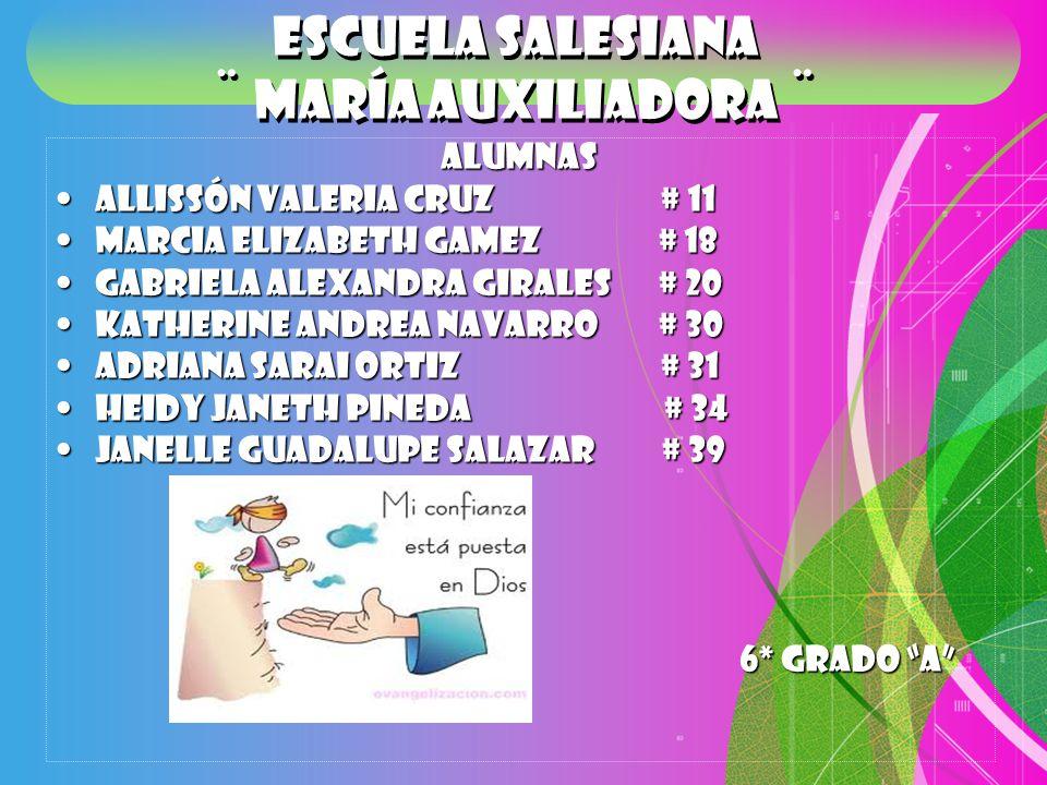 Escuela Salesiana ¨ María Auxiliadora ¨