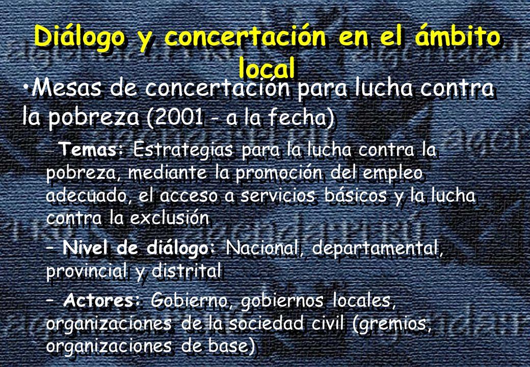 Diálogo y concertación en el ámbito local