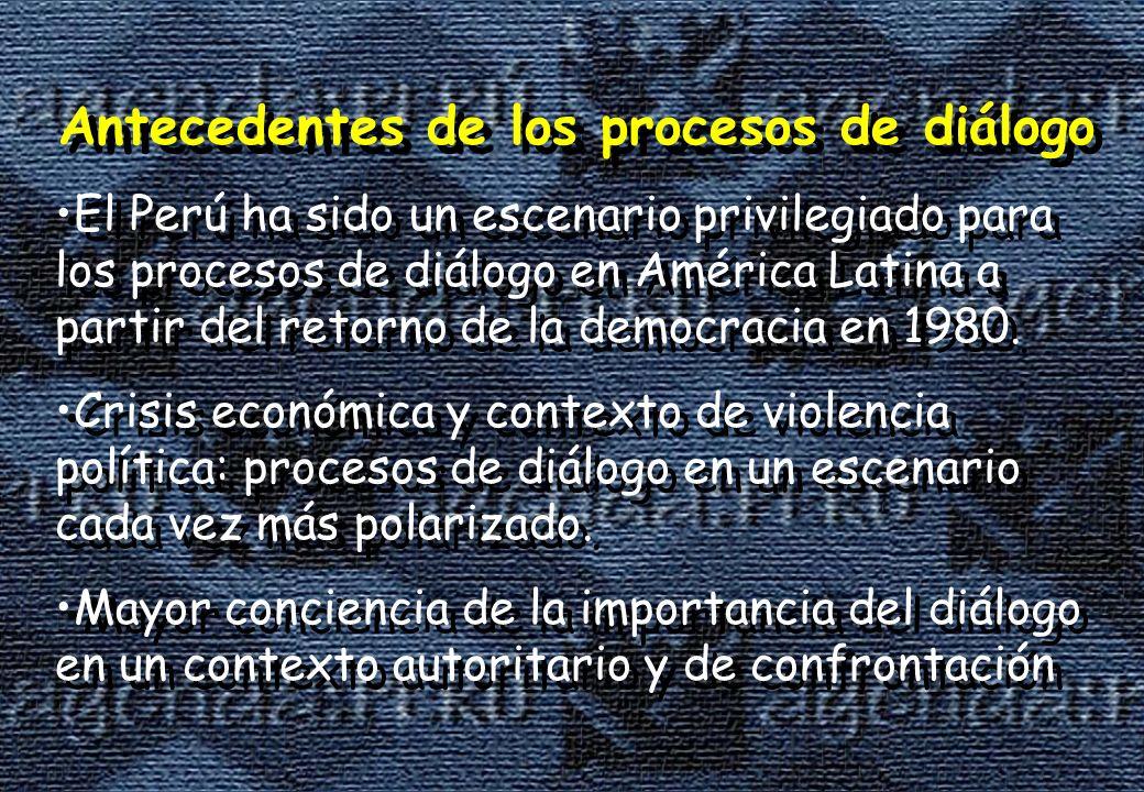 Antecedentes de los procesos de diálogo