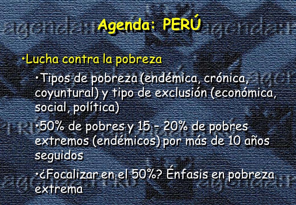 Agenda: PERÚ Lucha contra la pobreza