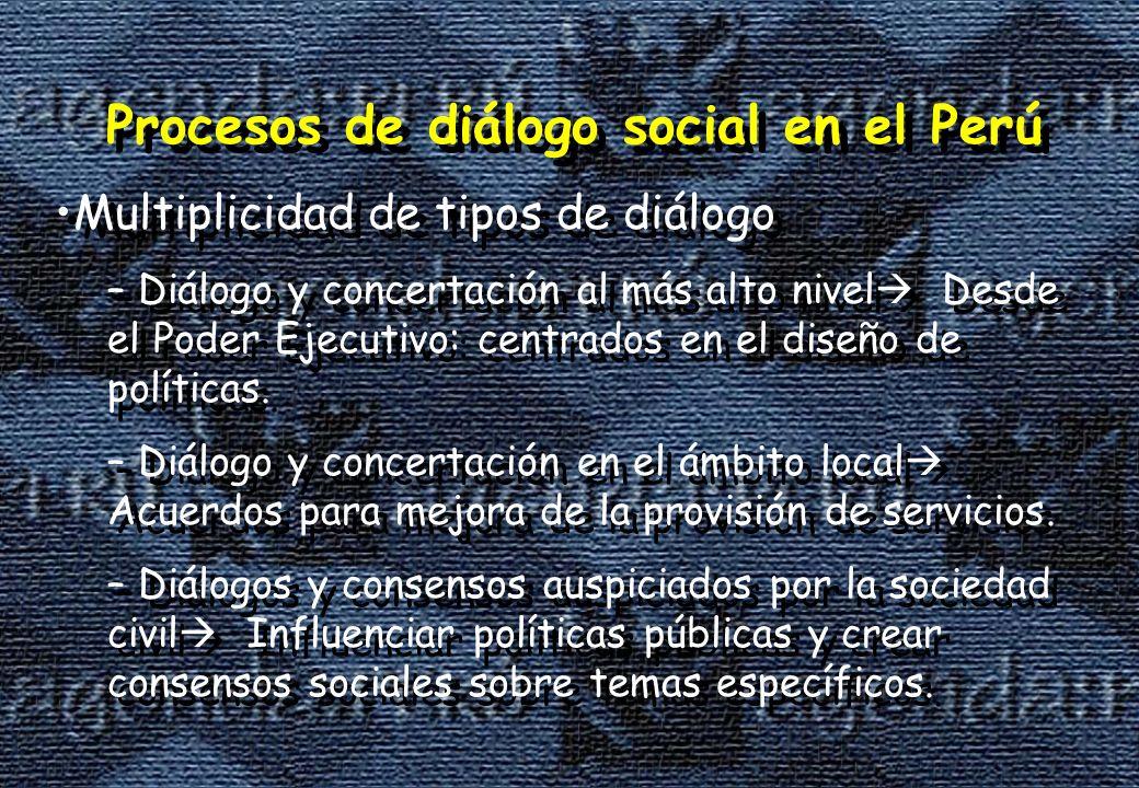 Procesos de diálogo social en el Perú