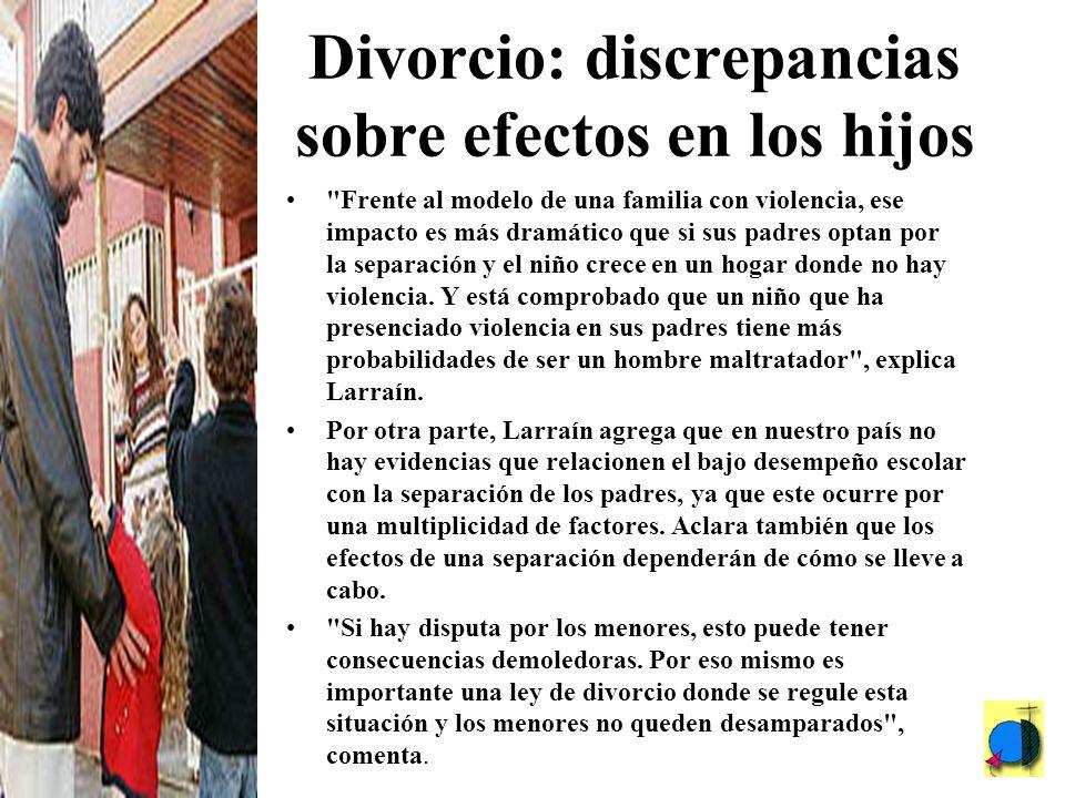 Divorcio: discrepancias sobre efectos en los hijos