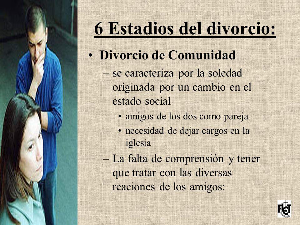 6 Estadios del divorcio: