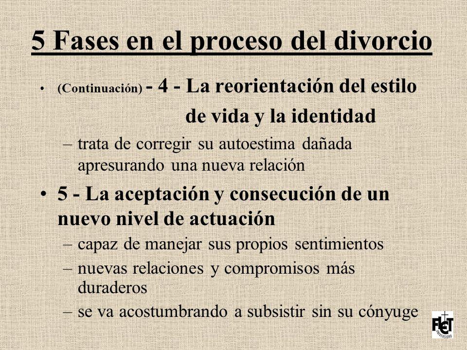 5 Fases en el proceso del divorcio