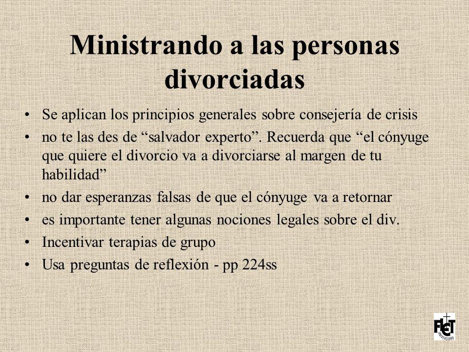 Ministrando a las personas divorciadas